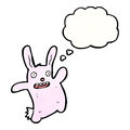 Funny pink rabbit cartoon Royalty Free Stock Photo