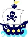 Funny pirate ship cartoon