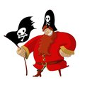 Funny pirate vector image of cartoon smiling Stock Photos