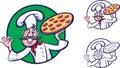 Funny pizza chef