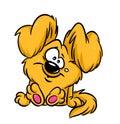 Funny plush dog cartoon