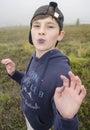 Funny portrait of a boy