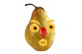 Funny portrait made from pears  and oranges Royalty Free Stock Photo