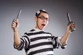 Funny Prisoner With Knuckles