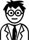 Funny Professor cartoon style Royalty Free Stock Photo