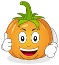 Funny Pumpkin Character with Thumbs Up Royalty Free Stock Photo