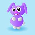 Funny purple bunny Royalty Free Stock Images