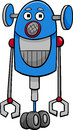 Funny robot cartoon illustration Royalty Free Stock Photo
