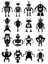 Funny robot icons set Royalty Free Stock Photo