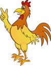 Funny rooster cartoon Royalty Free Stock Photo