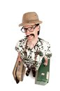 Funny safari tourist Stock Photography