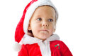 Funny santa baby over the white Stock Images