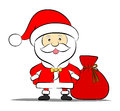 Funny Santa claus with bag of gifts Royalty Free Stock Photos