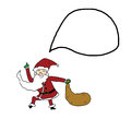 Funny santa claus cartoon hand drawn Stock Photo