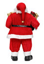 Funny Santa Claus doll with presents back view Royalty Free Stock Photo