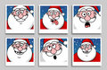 Funny Santa Claus photos Stock Photos