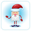 Funny santa claus vector illustration Stock Image