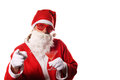 Funny santa claus with wierd glasses Stock Photos