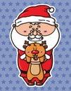 Funny Santa and deer