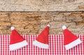 Funny Santa hats Royalty Free Stock Photo