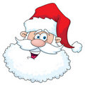 Funny santa head Royalty Free Stock Images