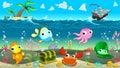 Funny scene under the sea