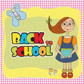 Funny schoolgirl Royalty Free Stock Photos