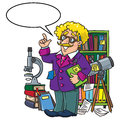 Funny scientist or inventor, Profesion ABC series Royalty Free Stock Photo