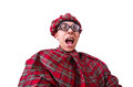 Funny scotsman isolated on the white Royalty Free Stock Photography