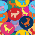 Funny seamless pattern with cats Royalty Free Stock Photography