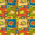 Funny seamless vector pattern Stock Image