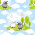 Funny sheep pattern