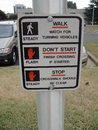 Funny sign its a which explains how to use a side walk lights Stock Photo