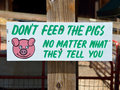 Funny sign at a petting zoo Royalty Free Stock Photo