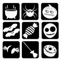 Funny sillhouettes for halloween nine different to celebrate in a way Stock Images