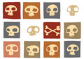Funny skulls Stock Photo