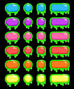 Funny slimy colorful buttons set Royalty Free Stock Photo