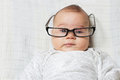 Funny smart baby Royalty Free Stock Photo