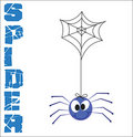 Funny Spider  illustration Stock Photos