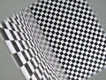 Funny square pattern room  Stock Photography