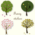 Funny stickers Stock Photo