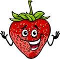 Funny strawberry fruit cartoon illustration Royalty Free Stock Photo