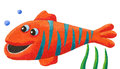 Funny striped fish Stock Photo
