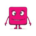 Funny stupid cube dude square character vector illustration this is file of eps format Royalty Free Stock Photo