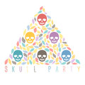 Funny sugar skulls. Hand drawn vector illustration. You can crea Royalty Free Stock Images