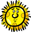 Funny sun cartoon illustration Royalty Free Stock Photo