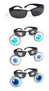 Funny sun glasses Stock Photo