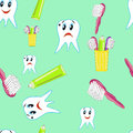 Funny teeth with toothpaste and a toothbrush Royalty Free Stock Photo