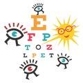 Funny testing eyesight