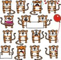 Funny tigers (1) Royalty Free Stock Photos